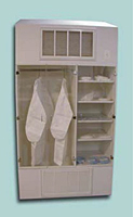 HEPA Filtered Garment and Storage Cabinet